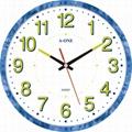 TG-0593 Qiuet Luminous Number Wall Clock