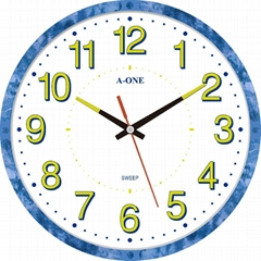 TG-0593 Qiuet Luminous Number Wall Clock