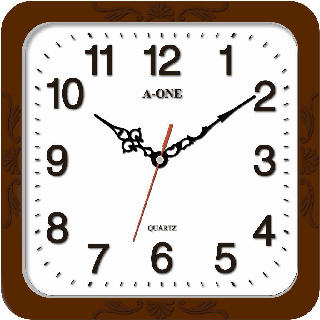 TG-0595  方形立體字掃描掛鐘 1