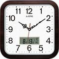 TG-0229  方形LCD石纹底挂钟