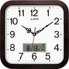 TG-0229  方形LCD石紋底掛鐘
