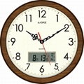 TG-0231 超靜音紳士雙顯掛鐘