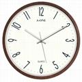 TG-0234  超靜音精品木紋掛鐘 2