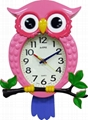 TG-0255 Owl Shape Wall Clock