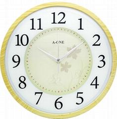 TG-0256 仿木纹印刷玻璃时钟