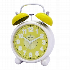TG-0159 Colorful Aluminum Twin Bell Alarm Clock