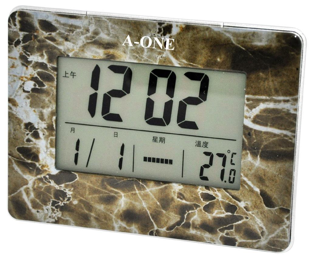 TG-069 LCD多功能大理石紋樣鬧鐘 1