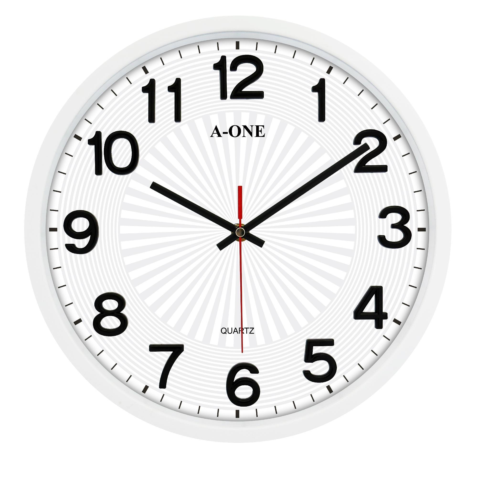 TG-0260 超靜音立體貼字造型掛鐘(黑) 1