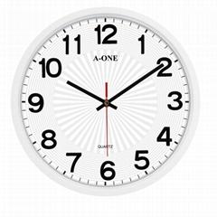 TG-0260 超靜音立體貼字造型掛鐘(黑)