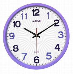 TG-0261 Quiet 3D Stick-on number Wall Clock(Purple)