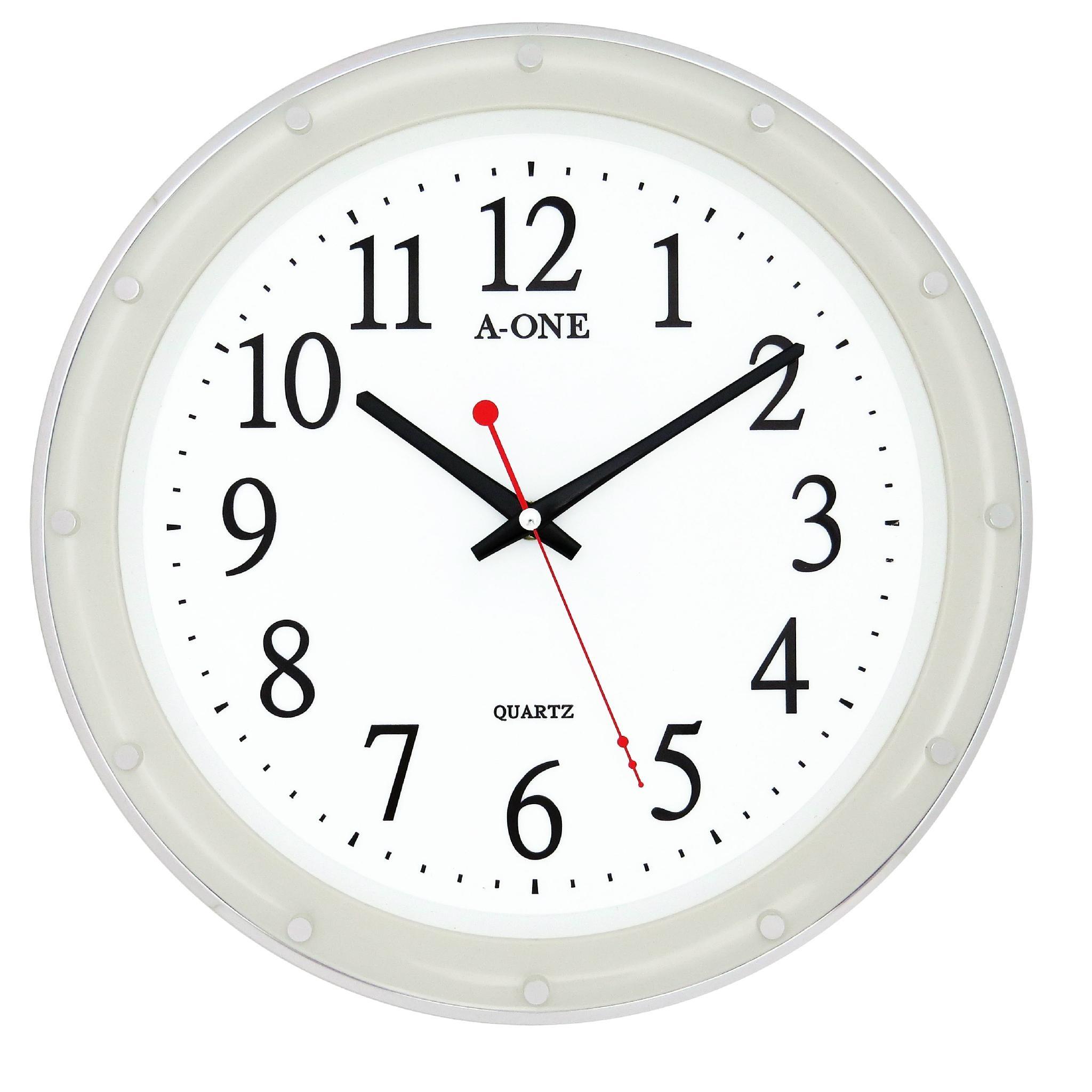 TG-0314 瓷白12刻度點掛鐘 1