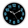 TG-0315 Colorful Number Wall Clock