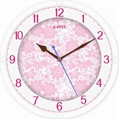 TG-0306   玻璃丝印底花时尚挂钟