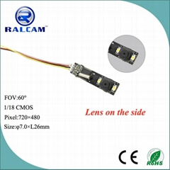 7.0mm 60 Angle FOV Pinhole Door Camera Module