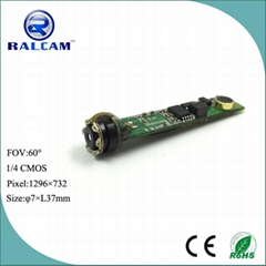 1280*720 pixels 7mm IR camera module with mini microphone