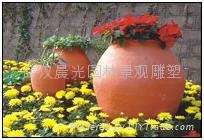 武漢園林小品花盆