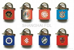 printing brass padlock
