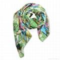 polyester artificial silk scarf