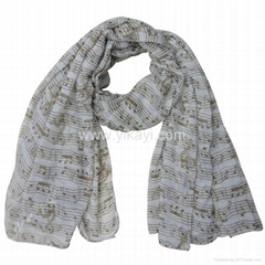 polyester voile scarf in