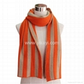 two tone acrylic knitted scarf