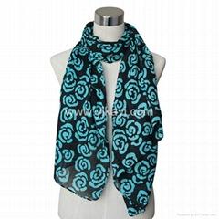 cotton/linen voile scarf