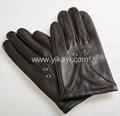 ladies leather gloves with eyelets decoration 1