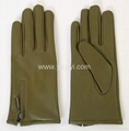 ladies fashion leather gloves with