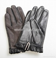 ladies fashion leather dress gloves with