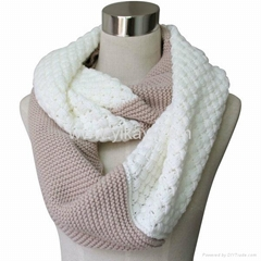 acrylic knitted infinity scarf