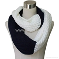 acrylic knitted infinity scarf 2