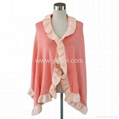 two tone acrylic shawl w