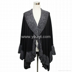 black acrylic knitted sh