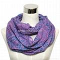fashion cotton voile loop scarf