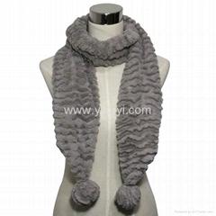 fashion polyester velvet scarf