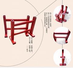 廠家直銷 實木大板底座腳架 簡易支架配套工字腳 巴花奧坎 可定做