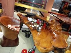 老撾花梨茶几 原木楠木茶桌 紅木辦公桌 客廳接待大班台 實木傢具