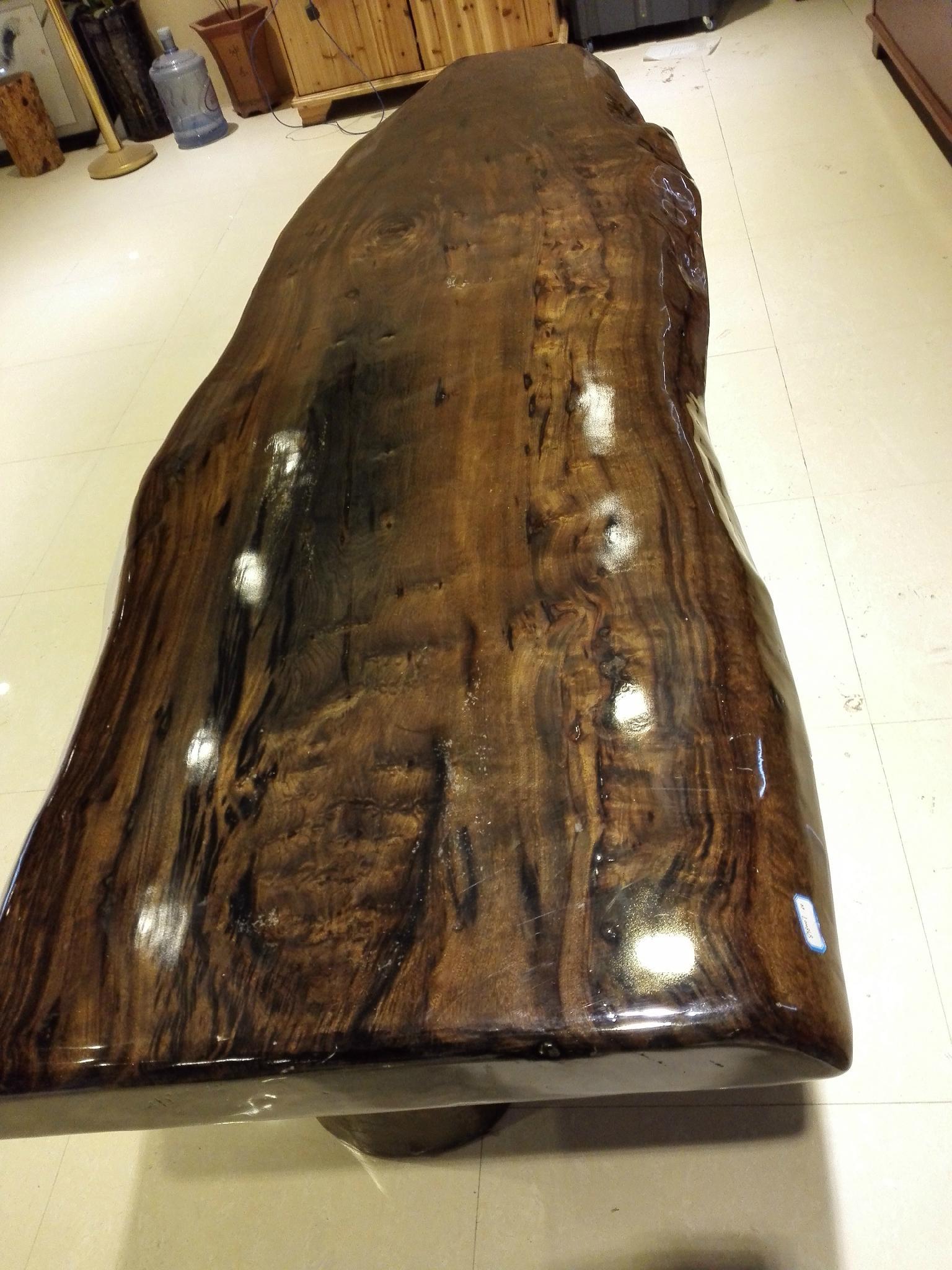 金絲楠木大板 原木大板茶桌 紅木辦公桌 客廳接待大班台 實木傢具 3