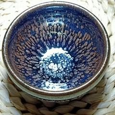 建阳建盏油滴兔毫鹧鸪铁胎陶瓷茶杯套装功夫茶具商务礼物柴烧茶盏