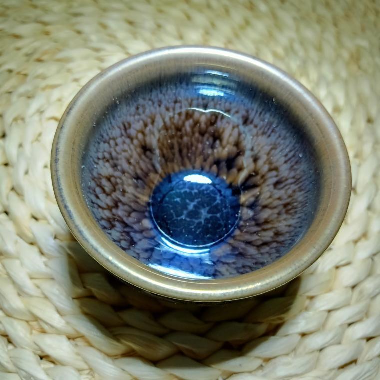 建陽建盞百花油滴鷓鴣斑建窯天目釉純手工鐵胎品茗主人杯茶具套裝 1