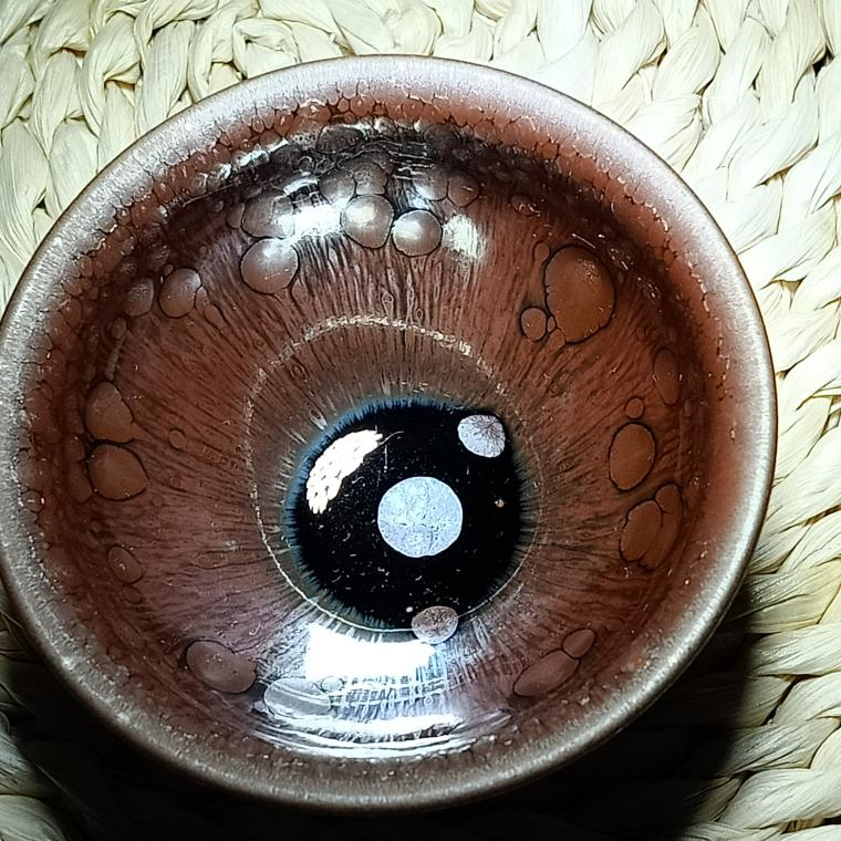 建陽建盞百花油滴鷓鴣斑建窯天目釉純手工鐵胎品茗主人杯茶具套裝 4