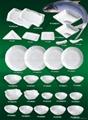 Tableware, porcelain 4 pcs breakfast set, ceramic ware 2