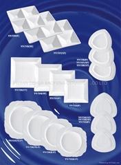 white ceramic wave dish