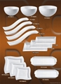 white ceramic wave dish chinese tableware 2