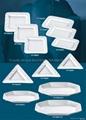 white ceramic wave dish chinese tableware 3