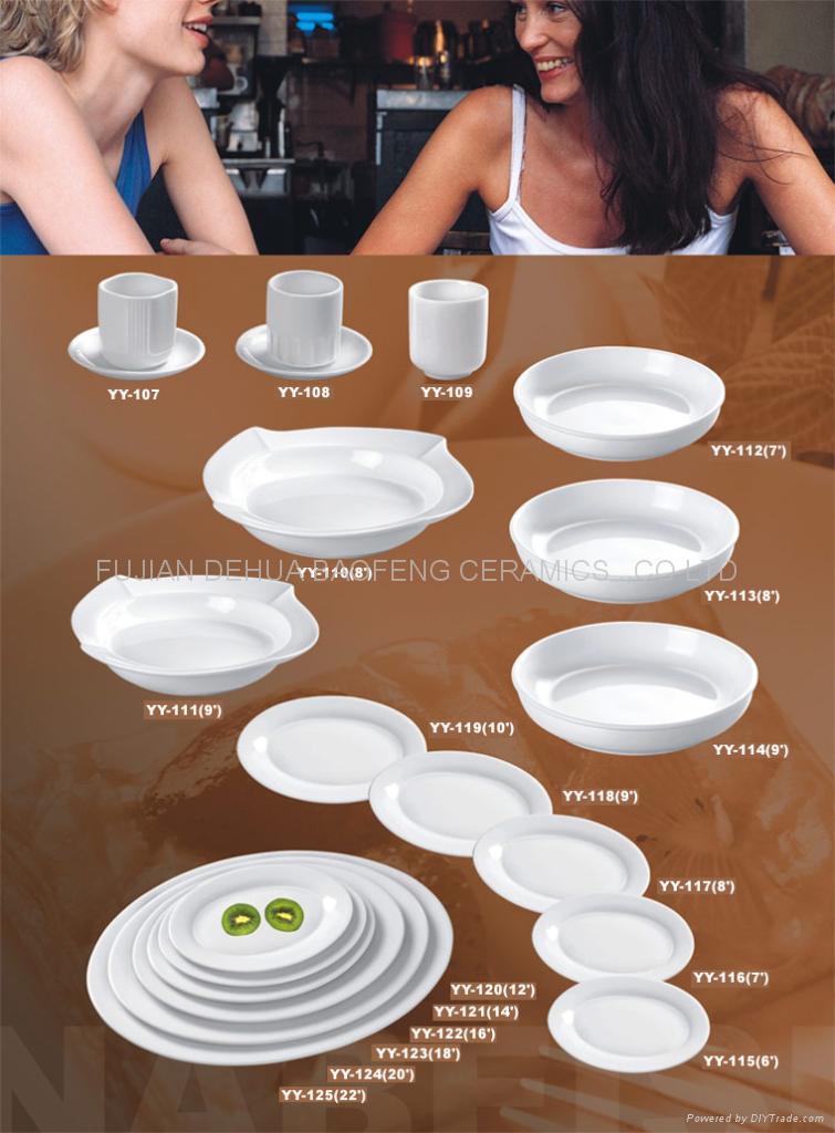 Porcelain plate,Ceramic plate, Soup plate,tableware,chinaware,dinnerware. 4