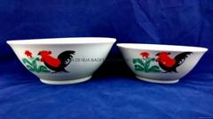 Printing Porcelain Ceramic Salad Bowl With Gold Line, Ceramic Bowls