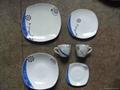 Printing Porcelain Ceramic Salad Bowl With Gold Line, Ceramic Bowls 2