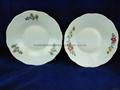 Printing Porcelain Ceramic Salad Bowl With Gold Line, Ceramic Bowls 3