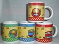 Printing Porcelain Ceramic Salad Bowl With Gold Line, Ceramic Bowls 4