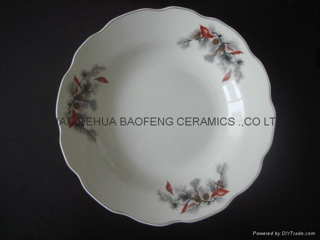 9' soup plate,porcelain soup plate, ceramic plate,porcelain plate, dinnerware 1
